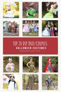 Collage photo of top 20 diy duo couples halloween costumes